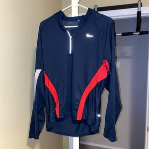 Navy blue/red Nike dri fit pullover